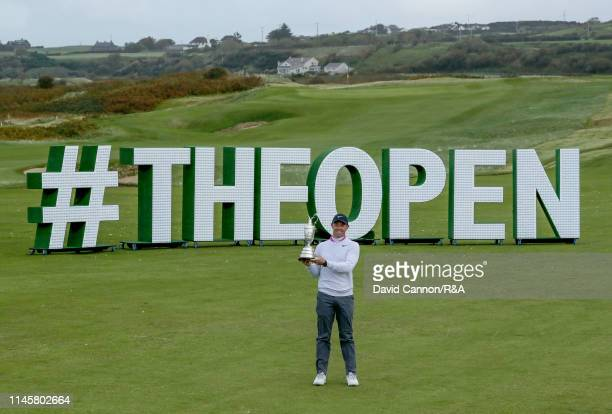 Rory McIlroy of Northern Ireland poses with the Claret Jug during an R&A day as a preview for the 2019 Open Championship at Royal Portrush Golf Club...