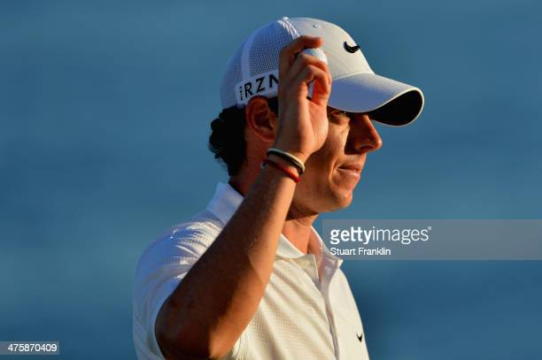 Rory McIlroy of Northern Ireland reacts during the third round of The Honda Classic at PGA National Resort and Spa on March 1 2014 in Palm Beach...