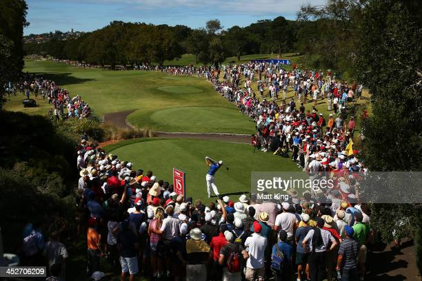 Rory McIlroy of Northern Ireland tees off on the 15th hole during day four of the 2013 Australian Open at Royal Sydney Golf Club on December 1 2013...