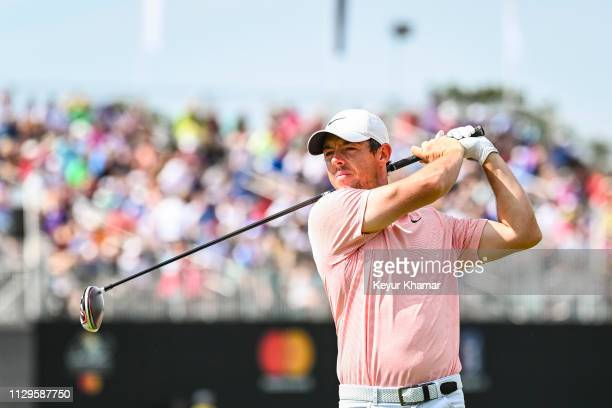 Rory McIlroy of Northern Ireland tees off on the 16th hole during the third round of the Arnold Palmer Invitational presented by MasterCard at Bay...