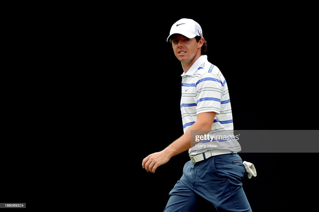 Rory McIlroy of Northern Ireland walks across the 11th green during a practice round prior to the start of the 2013 Masters Tournament at Augusta National Golf Club on April 8, 2013 in Augusta, Georgia.
