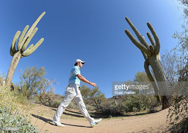 Rory McIlroy of Northern Ireland walks between holes during the second round of the World Golf Championships Accenture Match Play Championship at The...