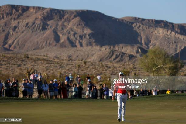 Rory McIlroy of Northern Ireland walks the 18th hole during the final round of THE CJ CUP @ SUMMIT at The Summit Club on October 17, 2021 in Las...