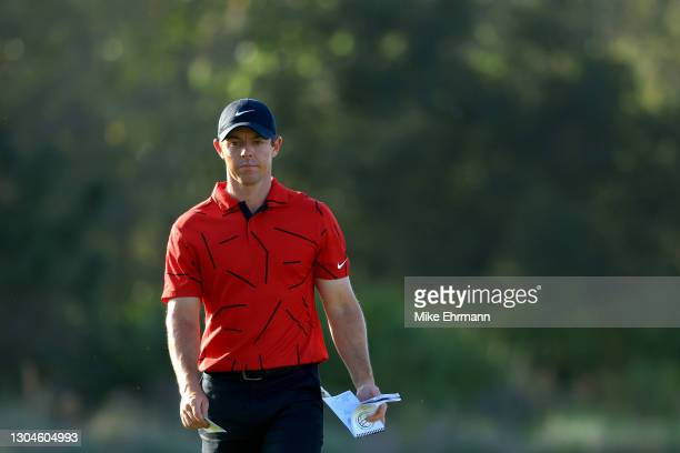Rory McIlroy of Northern Ireland walks up the 16th hole during the final round of World Golf Championships-Workday Championship at The Concession on...