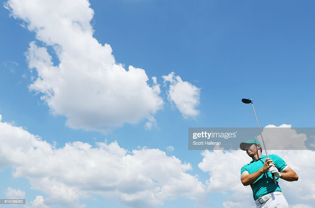 Rory McIlroy of Northern Ireland watches his tee shot on the 16th hole during the third round of the TOUR Championship at East Lake Golf Club on September 24, 2016 in Atlanta, Georgia.