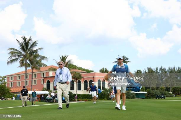 Rory McIlroy of the American Nurses Foundation team walks from the tenth tee during the TaylorMade Driving Relief Supported By UnitedHealth Group on...