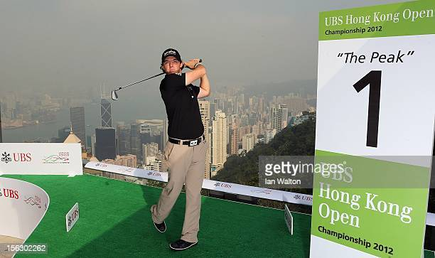 Rory McIlroy poses during The 2012 UBS Hong Kong Open 'Meet the Players' Press Conference and Tournament Photo Call at The Peak Tower on November 13...