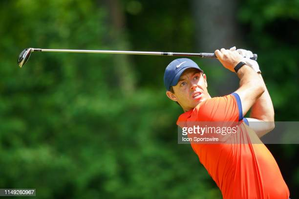 Rory McIlroy tees off during the final round of the RBC Canadian Open at Hamilton Golf and Country Club on June 9 2019 in Ancaster ON Canada