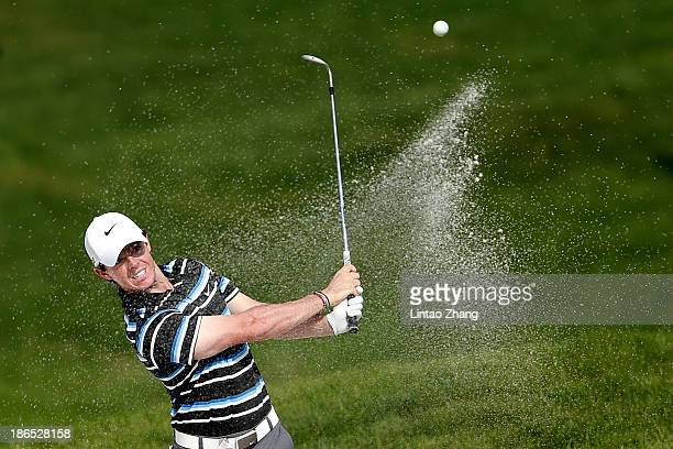 Rory McIroy of Northern Ireland in action during the second round of the WGC - HSBC Champions at Sheshan International Golf Club on November 1, 2013...