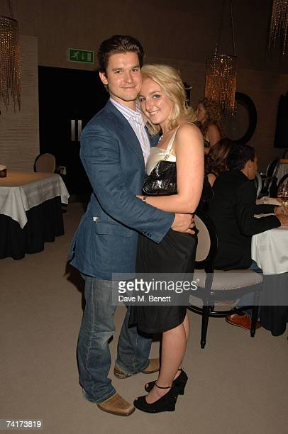 Rory McKay and Natasha Corret attend the opening of the new Kelly Hoppen designed Gary Rhodes restaurant on May 14 2007 in London England