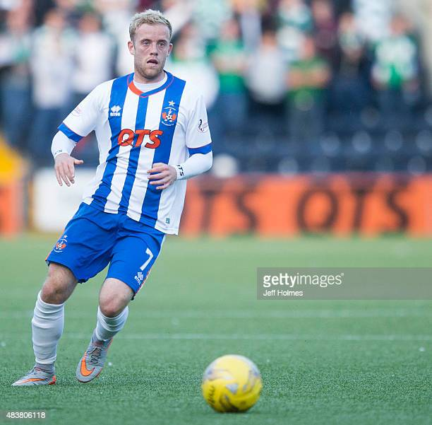 Rory McKenzie of Kilmarnock in action during the Scottish premiership match between Kilmarnock and Celtic at Rugby Park on August 12 2015 in...