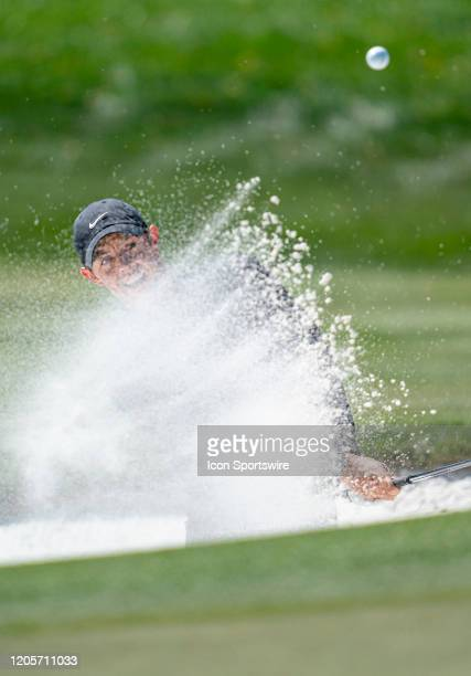 Rory Mcllroy in green side bunker on the 2nd hole during round 3 of the Arnold Palmer Invitational PGA Tournament on March 7 atBay Hill Club & Lodge...