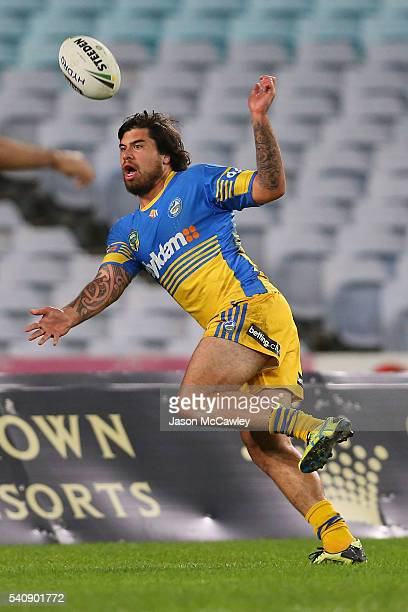 Rory O'Brien of the Eels during the round 15 NRL match between the South Sydney Rabbitohs and the Parramatta Eels at ANZ Stadium on June 17 2016 in...