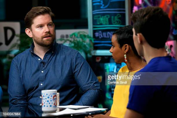 Rory O'Malley Delina Medhin and Lukas Thimm at Build Brunch at Build Studio on September 25 2018 in New York City