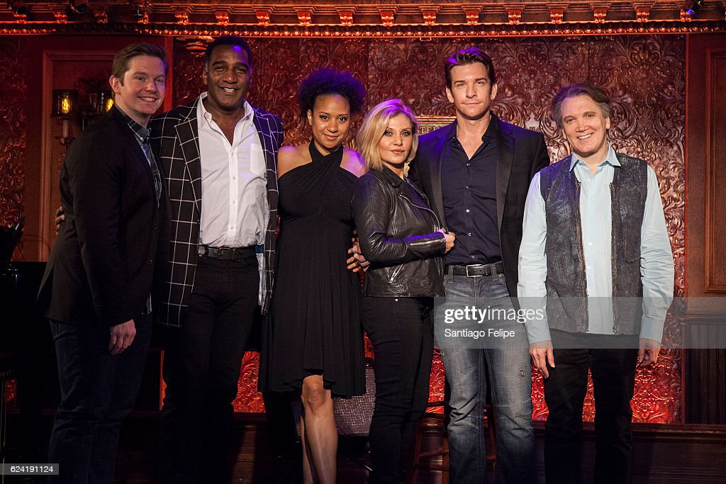 Rory O'Malley, Norm Lewis, Tracie Thoms, Orfeh, Andy Karl and Charles Busch attend Feinstein's/54 Below Press Preview at 54 Below on November 18, 2016 in New York City.