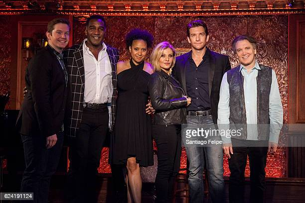 Rory O'Malley Norm Lewis Tracie Thoms Orfeh Andy Karl and Charles Busch attend Feinstein's/54 Below Press Preview at 54 Below on November 18 2016 in...