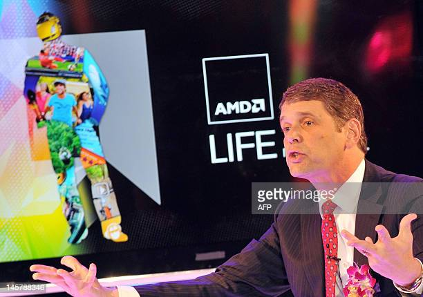 Rory Read, chief executive officer of Advanced Micro Devices Inc., speaks during a press conference at 2012 Computex in Taipei on June 6, 2012....