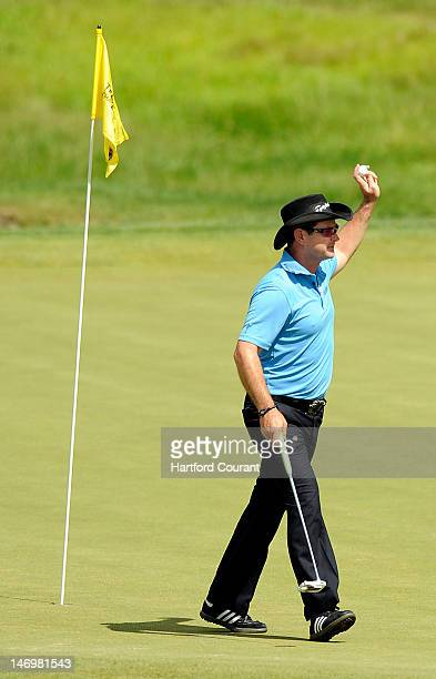 Rory Sabbatini made an ace on the 16th hole during the final round of the 2012 Travelers Championship golf tournament at the TPC River Highlands in...