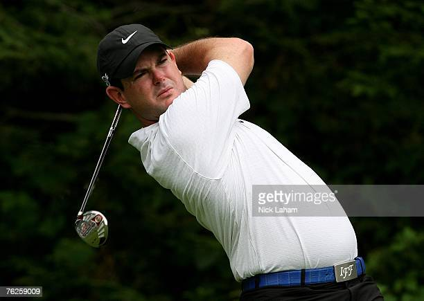 Rory Sabbatini of South Africa hits his tee shot on the 13th hole during the first round of The Barclays the inaugural event of the new FedEx Cup...