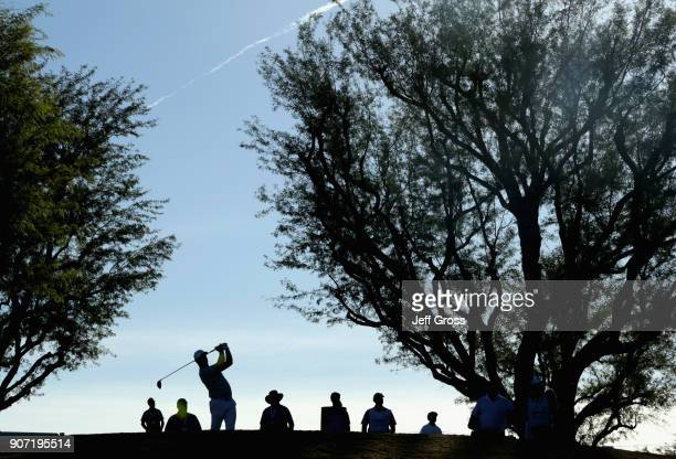 Rory Sabbatini of South Africa plays his shot from the third tee during the second round of the CareerBuilder Challenge at the TPC Stadium Course at...