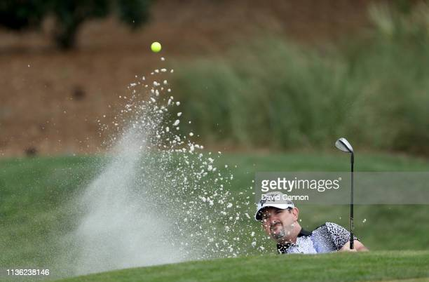 Rory Sabbatini of South Africa plays his third shot on the par 5, second hole during the third round of the 2019 Players Championship held on the...