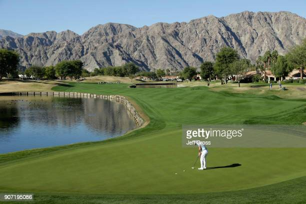 Rory Sabbatini of South Africa putts on the fifth hole during the second round of the CareerBuilder Challenge at the TPC Stadium Course at PGA West...