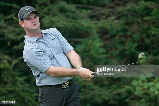 Rory Sabbatini on the 13th tee during the second round of The Barclays held at Westchester Country Club in Harrison NY on August 24 2007