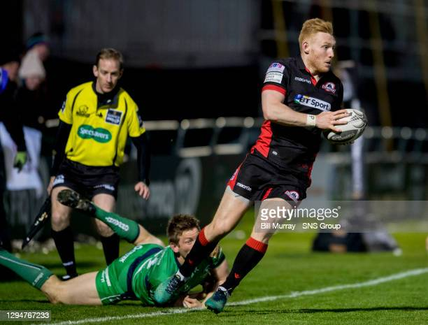 Rory Scholes in action for Edinburgh