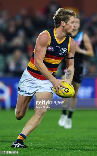 Rory Sloane of the Crows during the round eight AFL match between the Port Adelaide Power and the Adelaide Crows at Adelaide Oval on May 08, 2021 in...