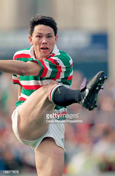 Rory Underwood in action for Leicester Tigers during the Pilkington Cup SemiFinal against Northampton Saints at Welford Road in Leicester on the 10th...