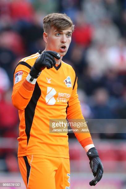 Rory Watson of Scunthorpe United during the Sky Bet League One Play Off Semi FinalSecond Leg between Rotherham United and Scunthorpe United at The...