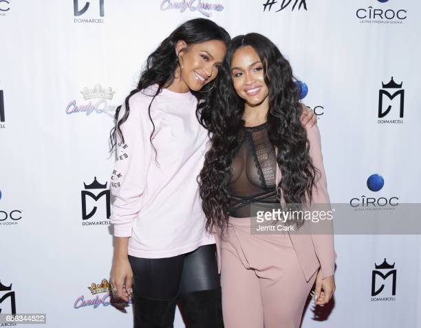 Rosa Acosta and Cassie attends the Single Release Party For Dom Marcell's single #DTK at Penthouse Nightclub Dayclub on March 21 2017 in West...