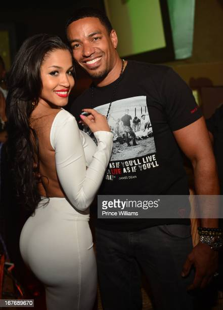 Rosa Acosta and Laz Alonzo attend a party at Cream Ultra Lounge on April 26 2013 in Atlanta Georgia