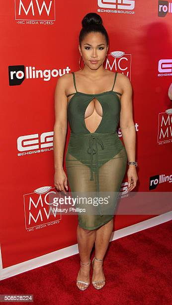 Rosa Acosta attends Rolling Out Magazine's Cover Unveiling at The Cosmo on February 4 2016 in Los Angeles California