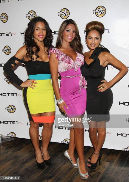Rosa Acosta Elizabeth Vashisht and Shakur Sozahdah attends the Hot 97 TV 'Los Blancos' Premiere at Villa Pacri on July 24 2012 in New York City