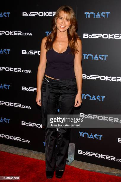 Rosa Blasi during BosPokercom 2004 Celebrity Poker Tournament Arrivals at Private residence in Beverly Hills California United States