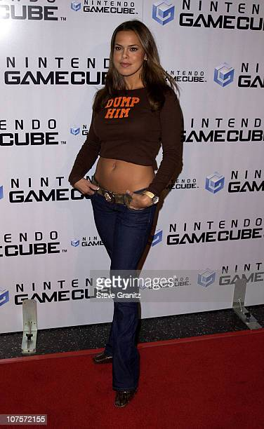 Rosa Blasi during Nintendo Game Cube Premiere Party 2001 at Private Club in Hollywood California