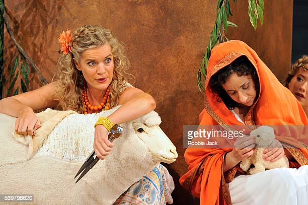 Rosa Bove as Aristea and Ruby Hughes as Argene in Garsington Opera's production of Antonio Vivaldi's L'Olimpiade directed by David Freeman and...