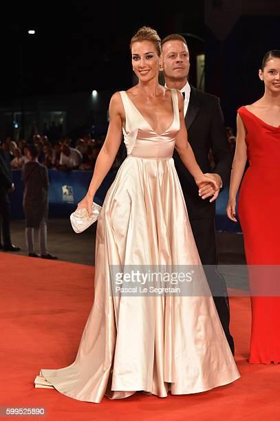 Rosa Caracciolo, Rocco Siffredi and Laura Medcalf attend the premiere of 'Rocco' during the 73rd Venice Film Festival at Sala Perla on September 5,...