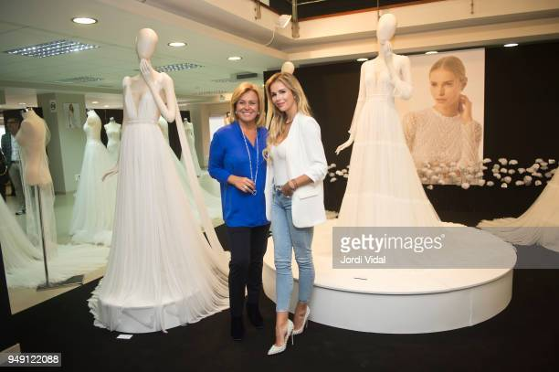 Rosa Clara and Agueda Lopez attend the press during the Rosa Clara opening showroom on April 20 2018 in Sant Just Desvern Spain