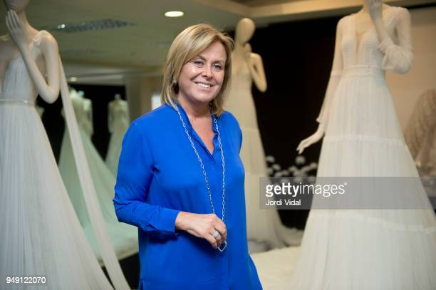 Rosa Clara attends the press during the Rosa Clara opening showroom on April 20 2018 in Sant Just Desvern Spain