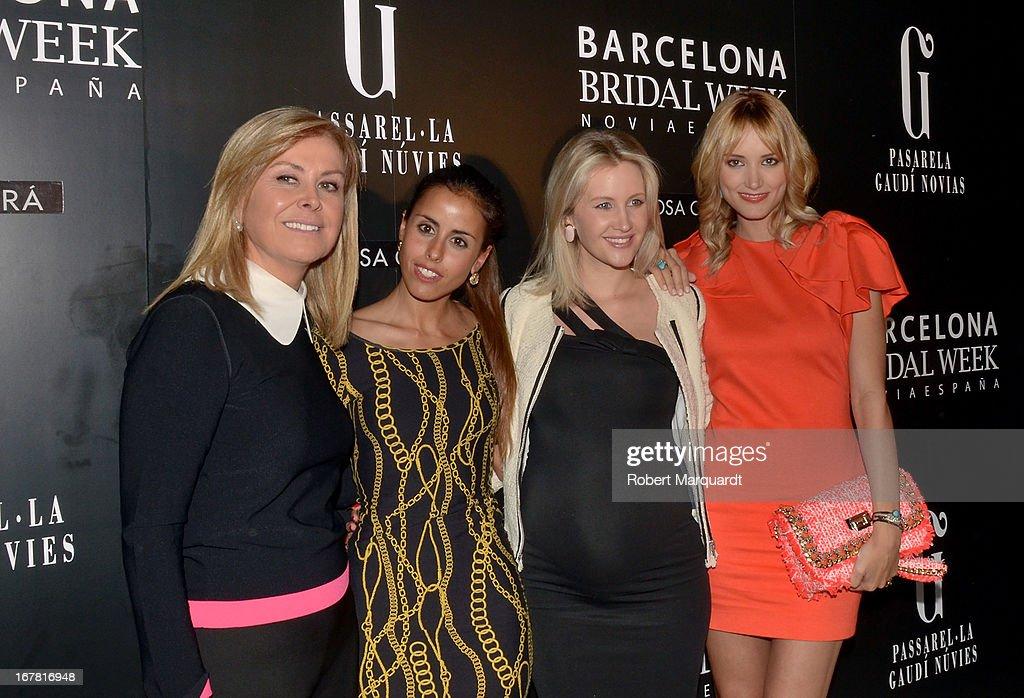 Rosa Clara, Carolina Patrocinio, Lorelei Taron and Alba Carrillo attend the lastest Rosa Clara bridal fashion show at Barcelona Bridal Week 2013 on April 30, 2013 in Barcelona, Spain.