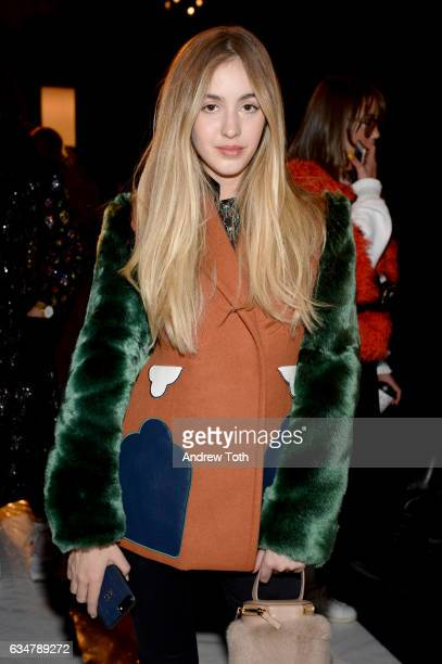 Rosa Crespo attends the Jonathan Simkhai February 2017 fashion show during New York Fashion Week The Shows at Gallery 1 Skylight Clarkson Sq on...