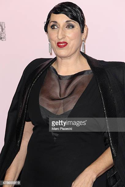 Rosa de Palma arrives for the 39th Cesar Film Awards 2014 at Theatre du Chatelet on February 28 2014 in Paris France