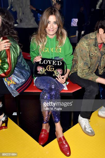 Rosa Gambino attends the Gucci show during Milan Fashion Week Spring/Summer 2018 on September 20 2017 in Milan Italy