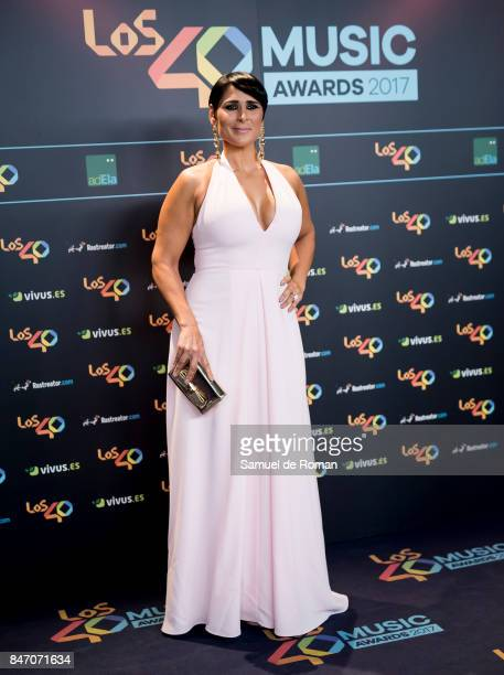 Rosa Lopez attends 40 Principales Awards candidates dinner 2017 on September 14 2017 in Madrid Spain