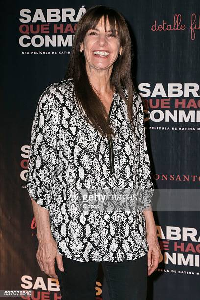 Rosa Maria Bianchi attends the press conference of the Mexican movie 'Sabras que hacer conmigo' at Cinepolis Diana on May 24 2016 in Mexico City...