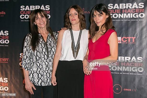 Rosa Maria Bianchi Katina Medina Mora and Ilse Salas attend the press conference of the Mexican movie 'Sabras que hacer conmigo' at Cinepolis Diana...