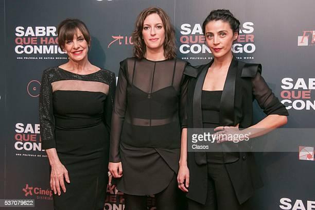 Rosa Maria Bianchi Katina Medina Mora and Ilse Salas pose during the red carpet of Mexican movie 'Sabras que hacer conmigo' at Cinepolis Diana on May...