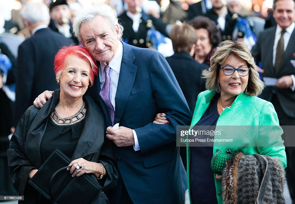 Rosa Maria Calaf, Luis del Olmo and Mercedes Gonzalez attend the Princesa de Asturias Awards 2016 ceremony at the Campoamor Theater on October 21, 2016 in Oviedo, Spain.